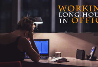 Working long hours in office